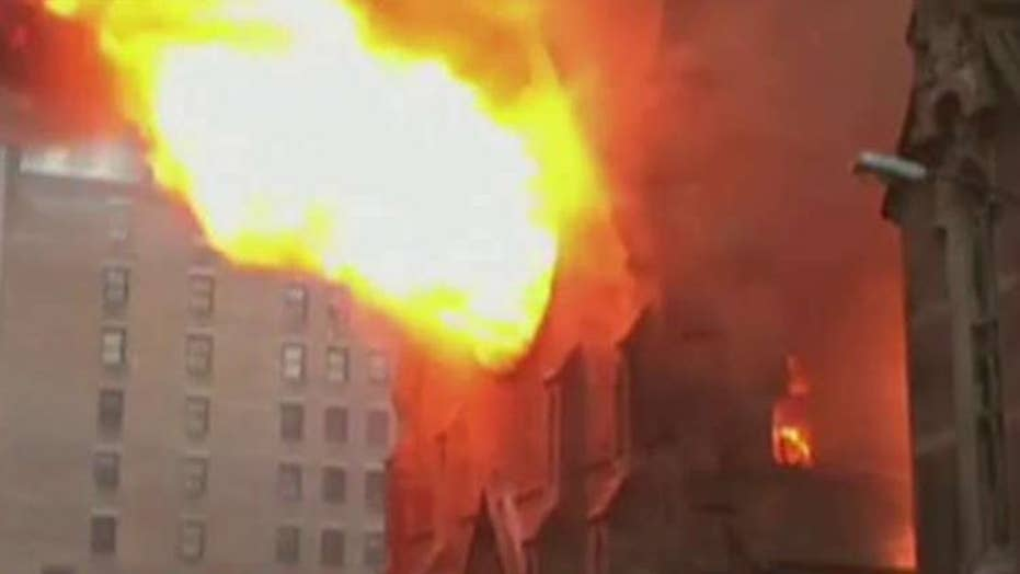 Historic New York City cathedral destroyed by fire