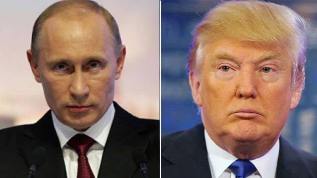 How would Trump handle Putin, protesters?