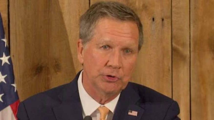 Republican governor of Ohio thanks family, staff and supporters