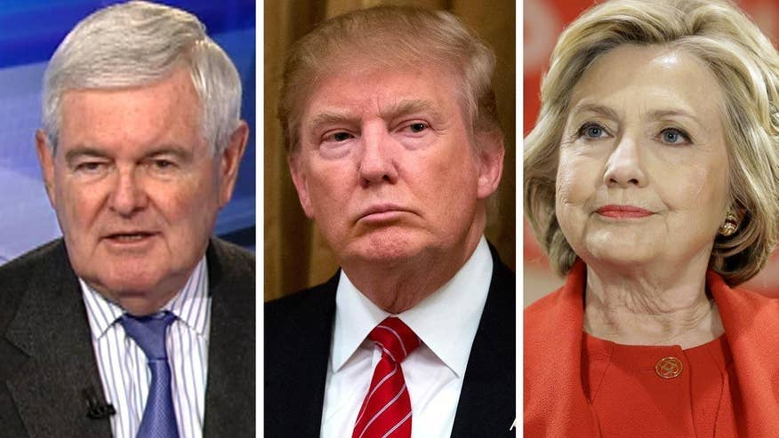 Former House speaker and presidential candidate Newt Gingrich goes 'On the Record' to size up the latest polls in a Hillary Clinton-Donald Trump showdown in the 2016 general election