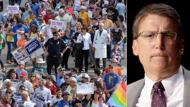 DOJ says NC 'bathroom bill' violates civil rights laws