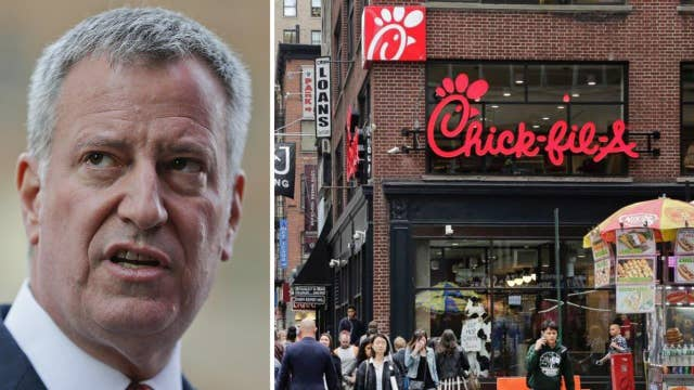Mayor urges New Yorkers to avoid Chick-fil-A