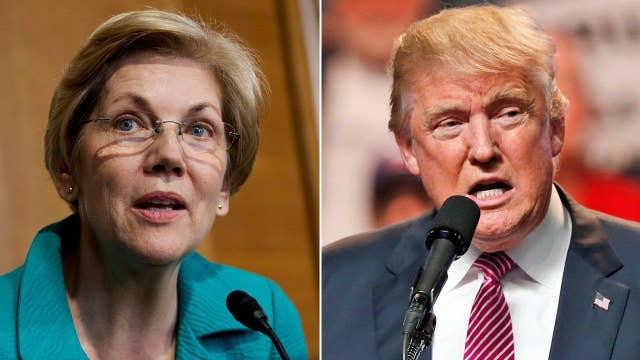 Senator Warren takes on Trump as race tightens with Clinton