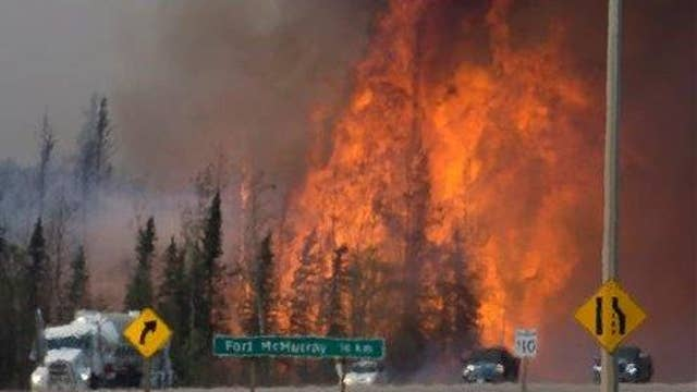 Canadian officials warn wildfire could double in size