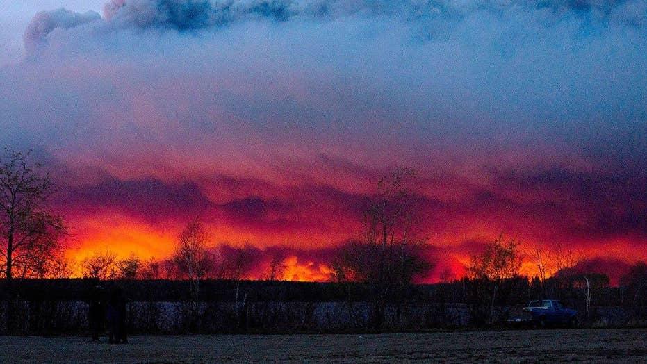 Massive wildfire devastates Northern Canada