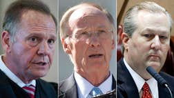If Alabama were a company, this would be where the stockholders demand the board clean house. In a startling outbreak of political scandal in the Deep South, leaders of all three branches of the Alabama state government are under fire and facing calls for their removal.