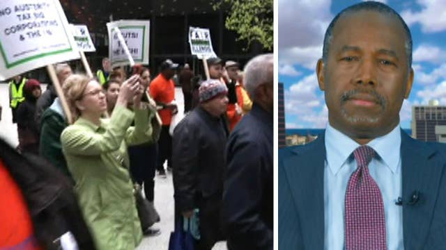 Ben Carson on 'moral Monday' protests, Trump's tax plan