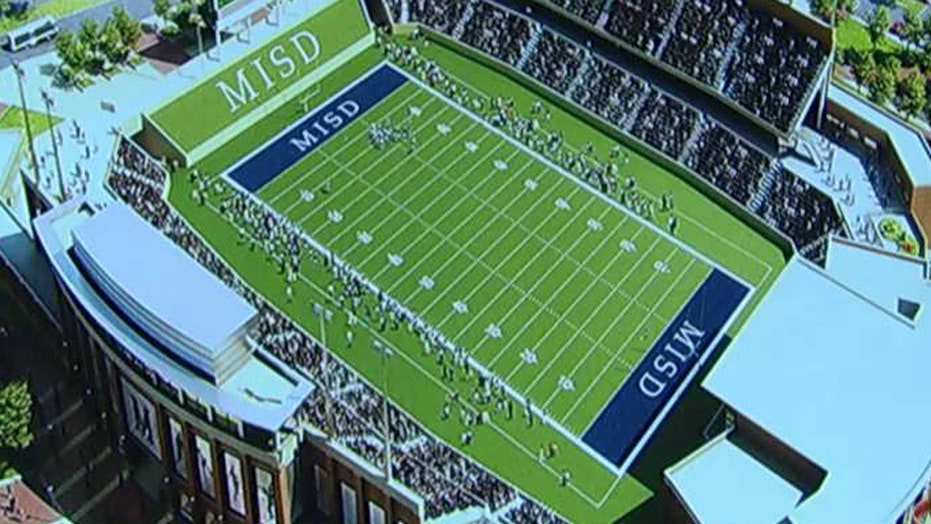 Controversy over Texas town's plan for HS football stadium