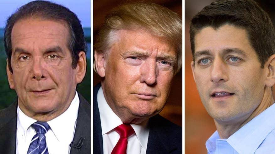 Krauthammer: Trump/Ryan meeting 'a sham marriage'
