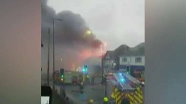 Sky lights up when fireworks factory goes up in flames