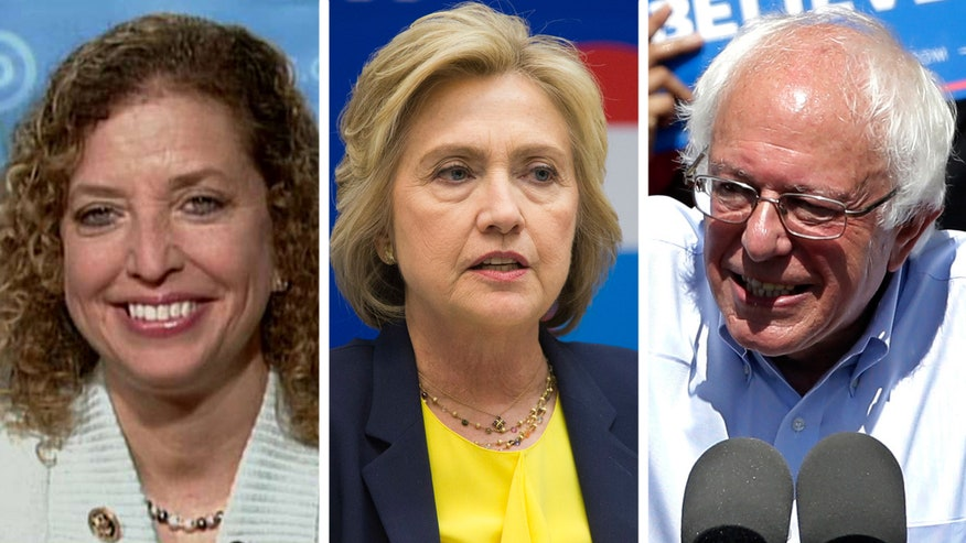 Rep. Debbie Wasserman Schultz says Sanders staying in the race is 'small potatoes' while Republicans have a 'big mess' with Trump