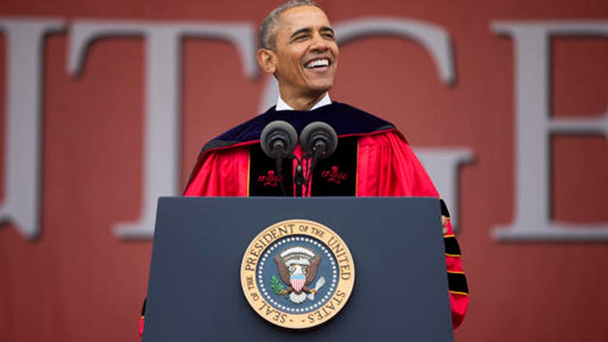 Obama blasts GOP in Rutgers University commencement speech