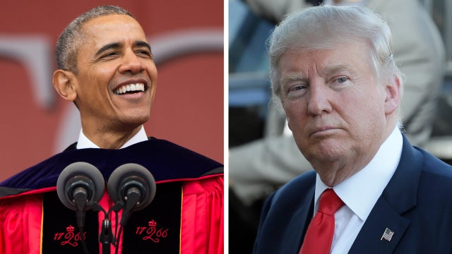 President Obama takes aim at Trump in commencement speech