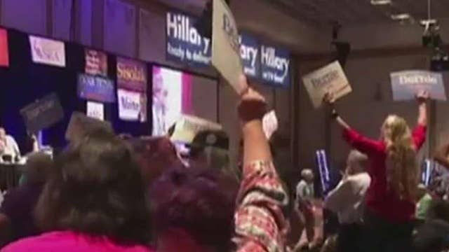 Clinton, Sanders supporters clash at convention in Nevada