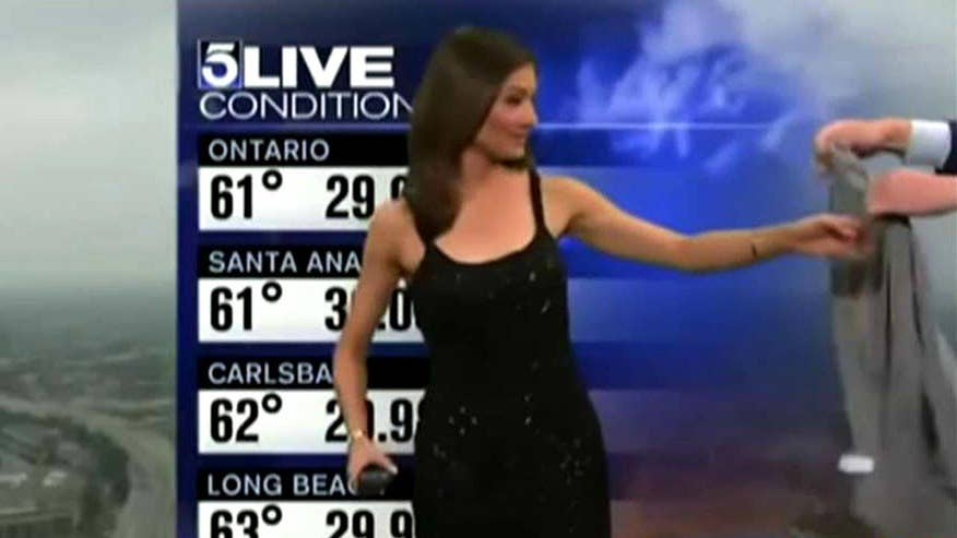 KTLA reporter asked to put on sweater during live weather report
