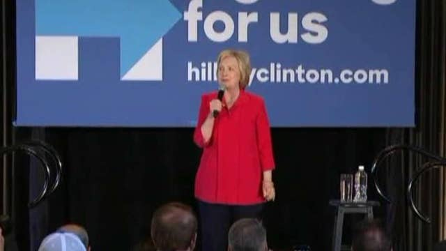 Clinton fights to focus on Trump as Kentucky, Oregon vote