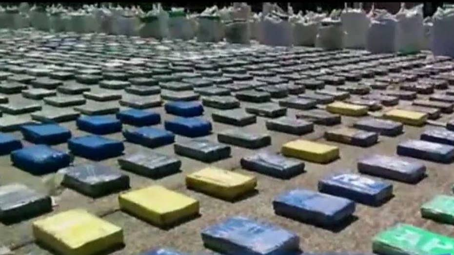 Historic Colombian drug bust seizes 8 tons of cocaine