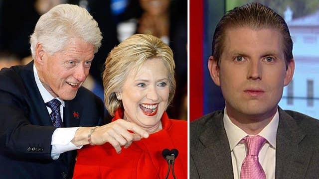 Eric Trump: Clinton family's 'horrible' record is fair game