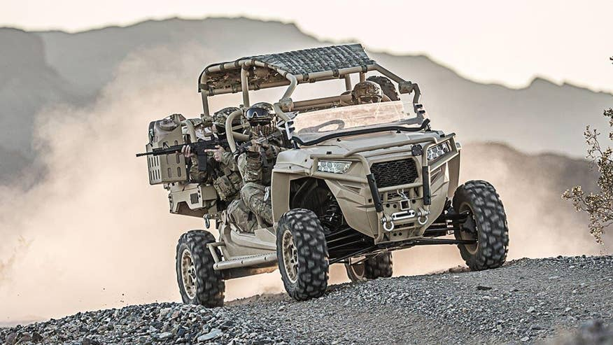 Fox Firepower: Defense Specialist Allison Barrie with an exclusive look at the newest Polaris ATVs designed for Special Operations missions