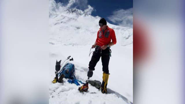 Veteran becomes first combat amputee to climb Mt. Everest