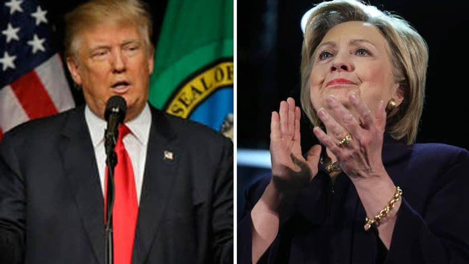 Trump and Clinton spar over gun policies