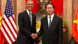 Obama announces a complete end to the arms embargo despite an increasingly aggressive China; Kevin Corke has more for 'Special Report'