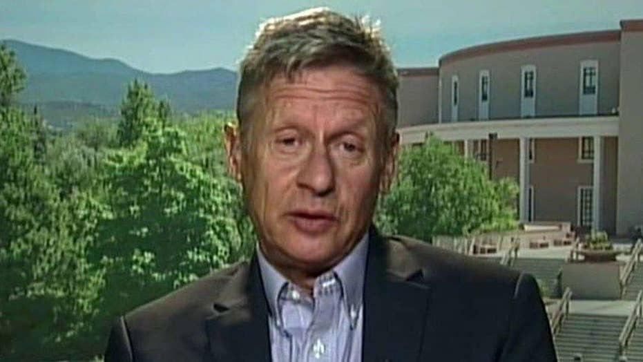 Libertarian Gary Johnson makes his case for the White House