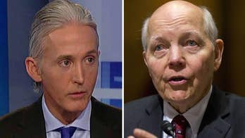 IRS chief John Koskinen did not appear at House hearing to examine whether he should be impeached for alleged failure to cooperate in IRS targeting scandal. But can House Oversight Republicans even impeach him? Rep. Trey Gowdy goes 'On the Record'