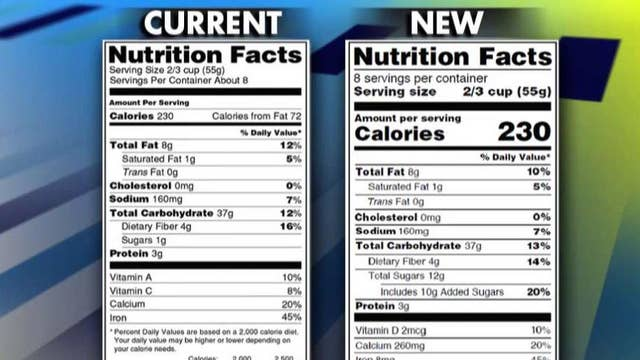 Scientists: New nutrition facts labels not based on science