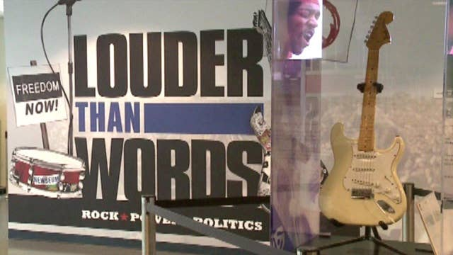 Rock and Roll Hall of Fame and Museum opens politics exhibit