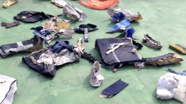 Conflicting claims over what brought down EgyptAir plane