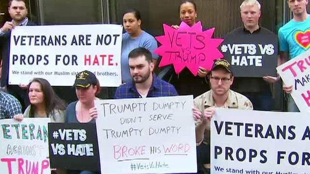 Veterans protesting Donald Trump