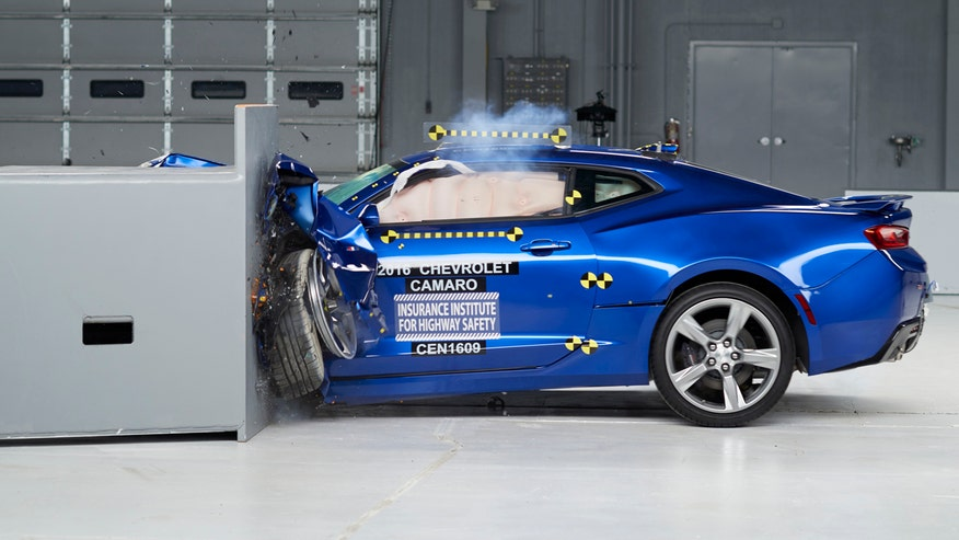 Insurance Institute for Highway Safety performs collision tests with high-performance vehicles