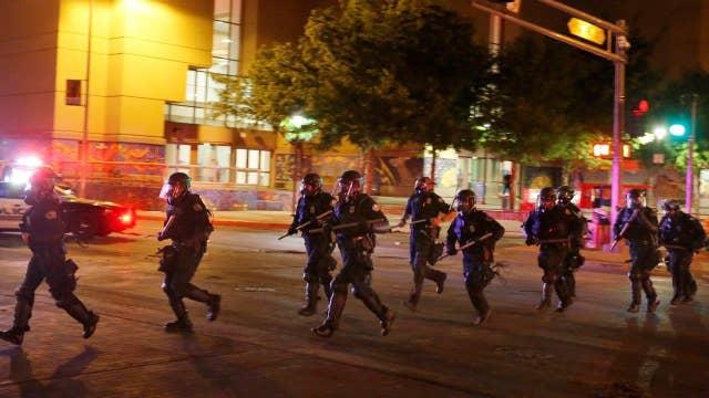 Violent protests erupt at Trump rally in Albuquerque