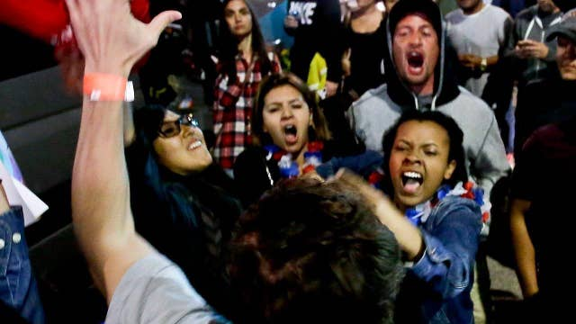 Are Trump protesters out to deflect attention from Dems?