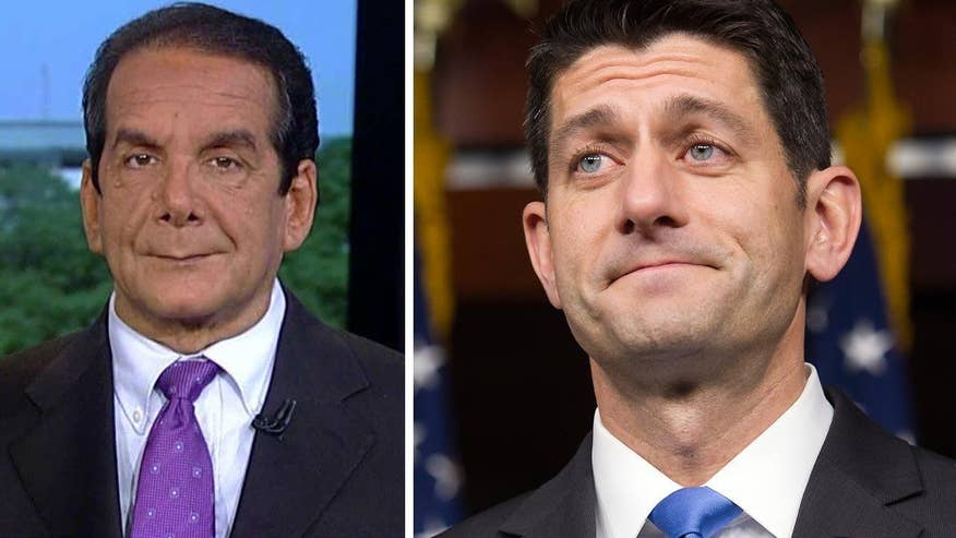 Charles Krauthammer said that House Speaker Paul Ryan is playing smart politics by waiting to give an endorsement