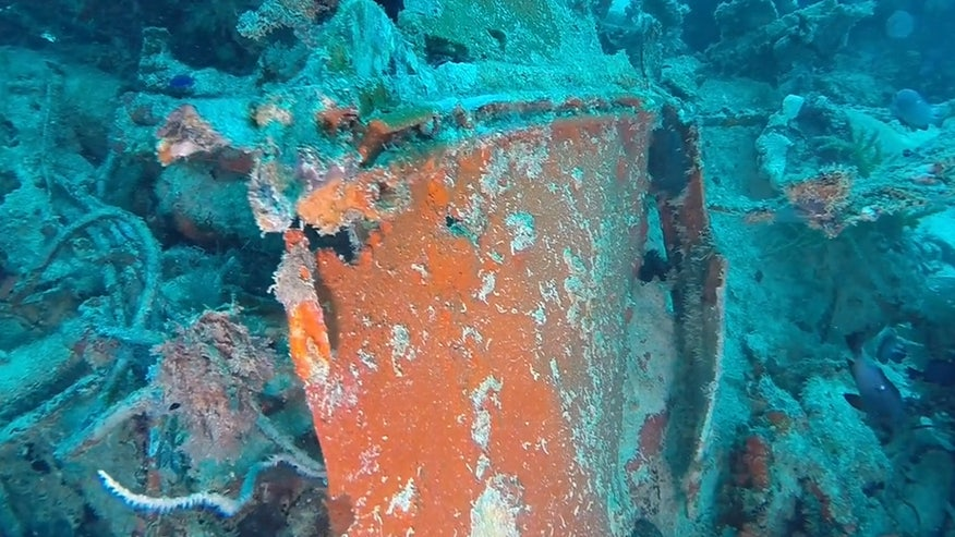The wreckage of a TBM-1C Avenger located by Project RECOVER. Credit: Eric Terrill/Scripps Institution of Oceanography, University of California San Diego
