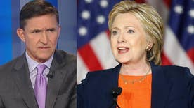 Former director of the Defense Intelligence Agency Gen. Michael Flynn goes 'On the Record' on Hillary Clinton's foreign policy speech and blistering critique of presumptive GOP nominee Donald Trump