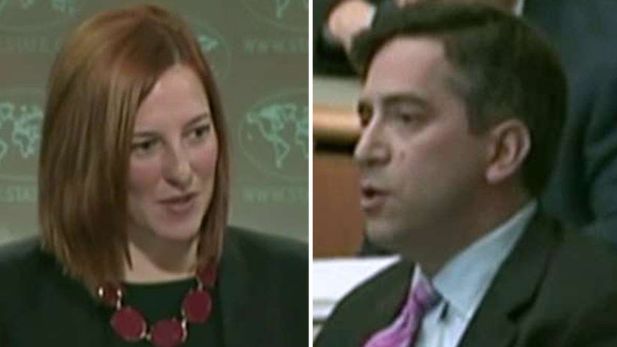 Exchange between Fox News' James Rosen  then-spokeswoman Jen Psaki removed