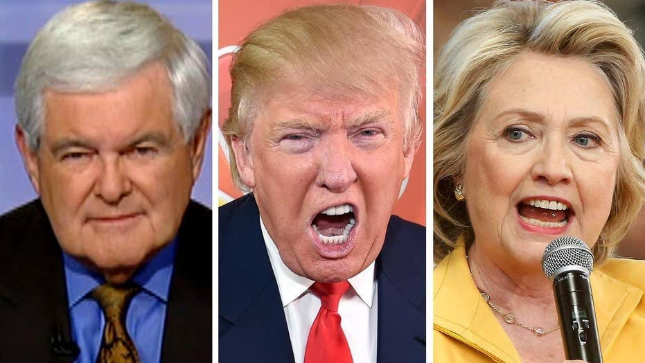 Gingrich's take: No more kid gloves in Trump vs. Clinton