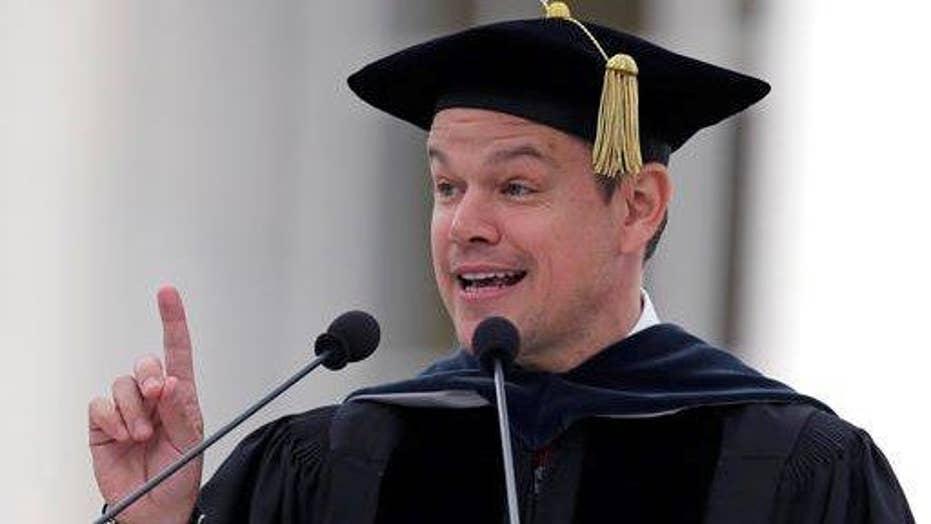 Matt Damon uses commencement speech to slam Donald Trump