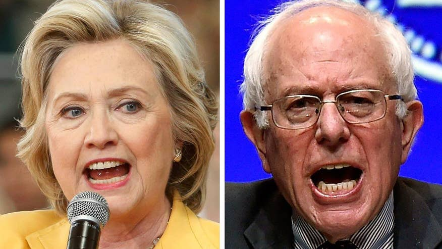 Hillary Clinton faced a far tougher than expected challenge from Bernie Sanders
