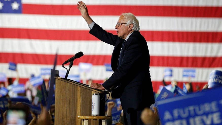 Democratic presidential candidate doubles down on his promise to battle all the way to the convention
