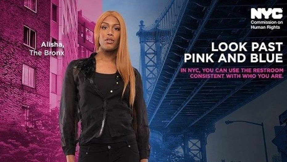 'Look past pink and blue': NYC spends $256G on bathroom ads