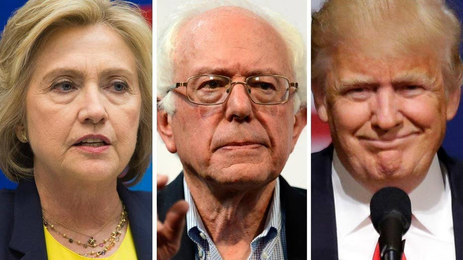 Clinton, Trump vie for Sanders supporters