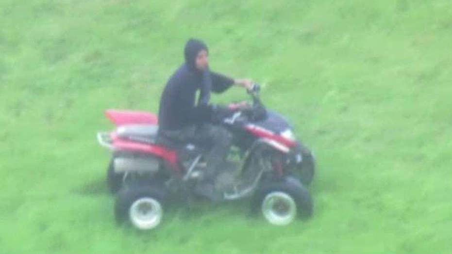 Teen taunts cops on wild off-road chase