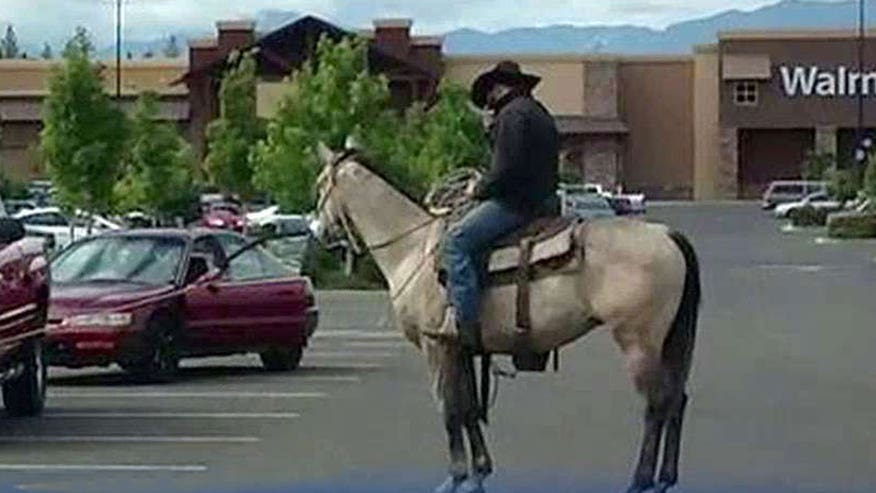 Old west style takedown outside Walmart