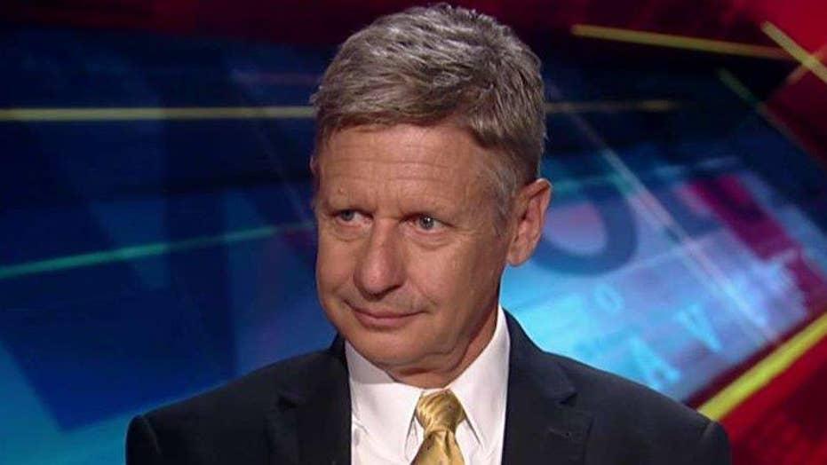 Gary Johnson is open to the debate over gun control