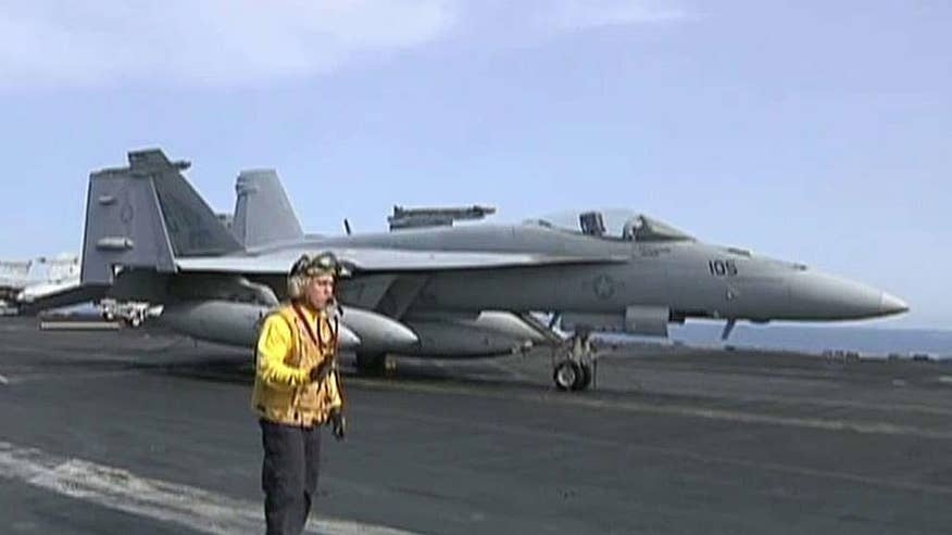 Greg Palkot provides a tour of the aircraft carrier