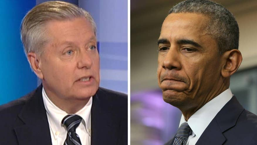 Sen. Lindsey Graham goes 'On the Record' CIA Director John Brennan's grim assessment of US handling of ISIS versus Obama insisting we're winning, saying president's policies are responsible for the terror group's rise